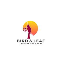 Bird leaf template vector