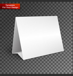 Blank paper table cards vector