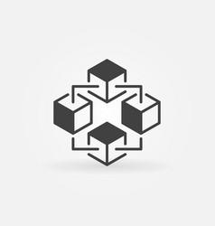 blockchain technology icon or design vector image