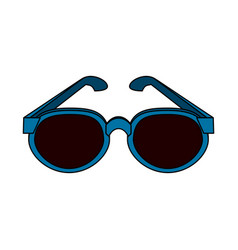 Blue frame sunglasses icon image vector