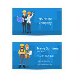 Building company business card layout vector