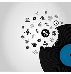 Business vinyl vector