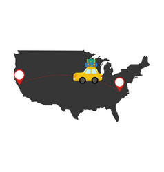car travel through the country vector image