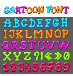 Cartoon font vector