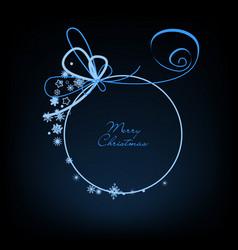 Christmas ball christmas cute round frame for text vector