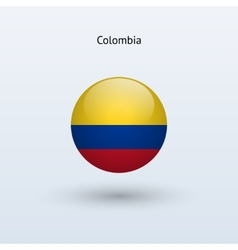 Colombia round flag vector