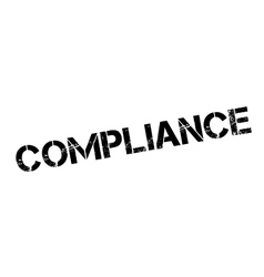 Compliance rubber stamp vector