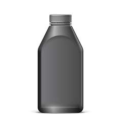 Cool realistic black plastic bottle vector