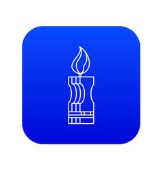 Decorative candle icon blue vector