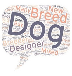 Designer Dog Rage Is It Safe text background vector