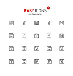 Easy icons 39a files vector