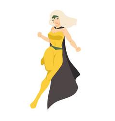 Female superhero or superheroine blonde woman vector