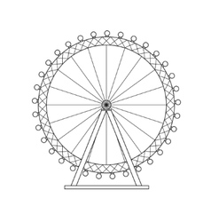 Ferris Wheel London Thin Line vector