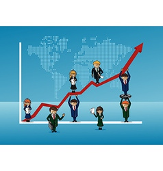 Finance bussines team growth concept graph vector