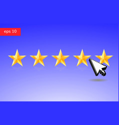 five stars and arrow cursor vector image