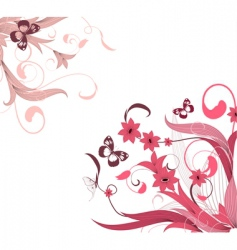 Flower pattern corner vector