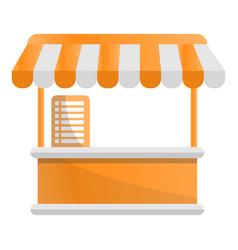 Food tent kiosk icon cartoon style vector