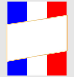 Frame on background flag france vector
