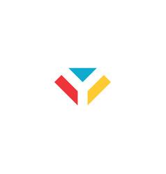 geometric logo letter y sign element vector image