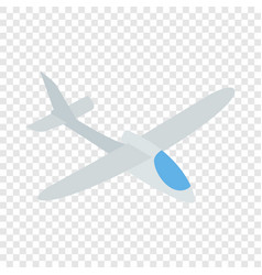 Grey plane isometric icon vector