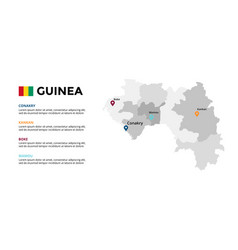 guinea map infographic template slide vector image