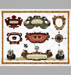 heraldry borders vector image