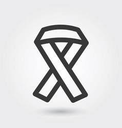 icon hiv ribbon medical icon line style for any vector image