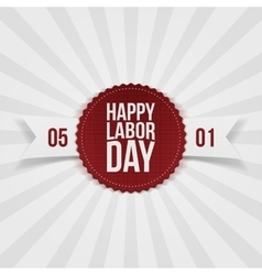 International Labor Day realistic Emblem vector image