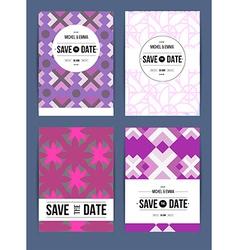 Invite template set vector image
