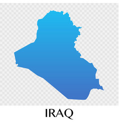 iraq map in asia continent design vector image