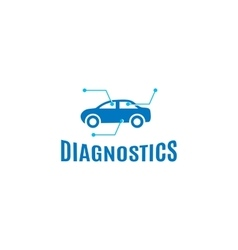 Isolated abstract blue color car diagnostics logo vector
