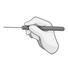 Laser eye procedure icon gray monochrome style vector