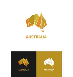 Logo in view contour map australia vector