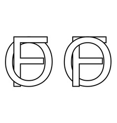 Logo sign fo icon sign interlaced letters o f vector
