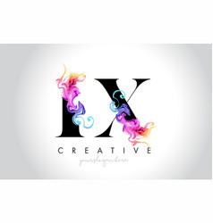 Lx vibrant creative leter logo design with vector