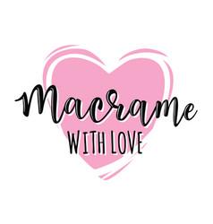 Macrame with love logo vector