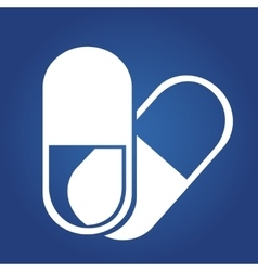 medical icon -Tablets Icon isolated on blue vector image