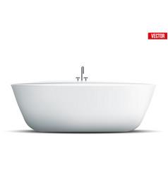 modern bath isolated vector image