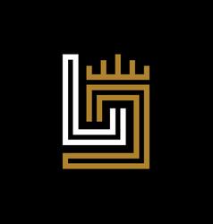 monogram design initials lj vector image