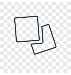 Napkin concept linear icon isolated on vector