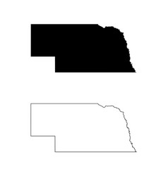 nebraska ne state map usa vector image