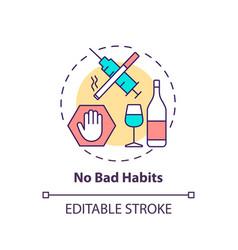No bad habits concept icon vector