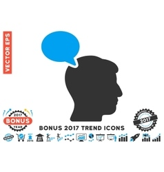 Person Opinion Flat Icon With 2017 Bonus Trend vector