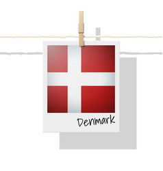 photo of denmark flag vector image
