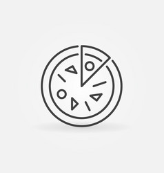 Pizza concept icon in thin line style vector