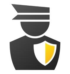 Policeman Gradient Icon vector