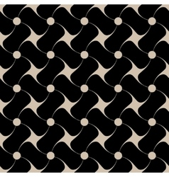 Polka dot and star beige seamless pattern vector