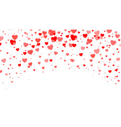 red heart halftone valentines day background vector image