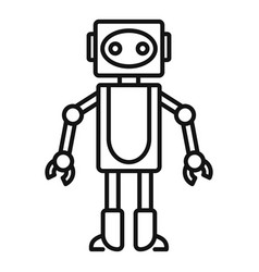 Robot toy icon outline style vector