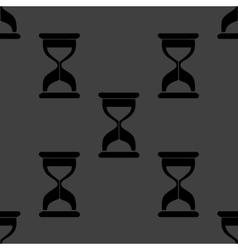 Sand clock Glass timer web icon flat design vector image